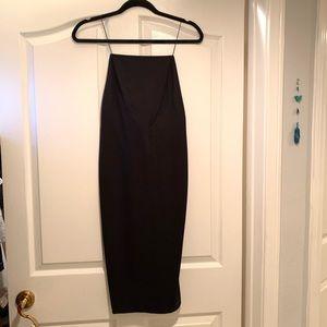 AQ/AQ Backless Black Dress